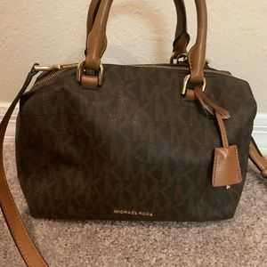 Brown Signature Michael Kors Handbag w/ wallet
